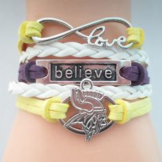 Infinity Love Minnesota Vikings (2016B) Football Bracelet BOGO
