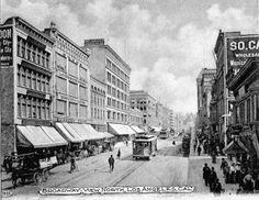 Broadway Street, Los Angeles, circa 1901. California History, Vintage California, Southern California, Los Angeles Area, Downtown Los Angeles, Old Photos, Vintage Photos, San Fernando Valley, City Of Angels