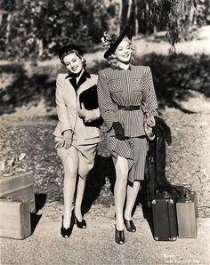 Joan Blondell and Carole Landis, 1941.