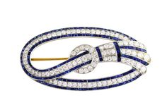 Art Deco Tiffany & Co. Sapphire and Diamond Brooch