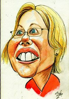 Elizabeth Warren Caricature