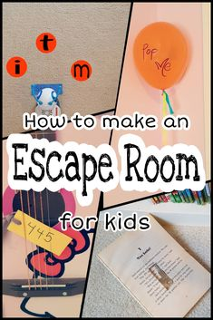 Escape Room for Kids Escape rooms are very popular right now - both for kids and adults. Need some ideas? This escape room involves several clues and ideas for you to plan an escape room at home, for a party or even in the classroom. Escape Room Diy, Escape Room For Kids, Escape Room Puzzles, Kids Room, Room Escape Games, Escape Room Themes, Escape Box, Diy For Kids, Crafts For Kids