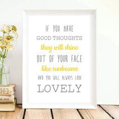 A4 Gute Laune Print Sonne Motivation Spruch Poster von Lottes Laden auf DaWanda.com