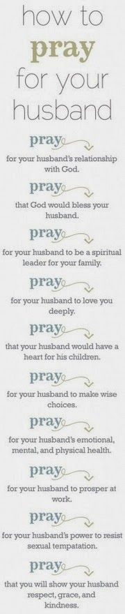 How to pray for your husband. Bible verses