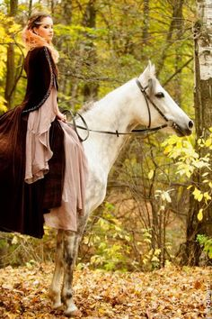 A white horse for a beautiful princess