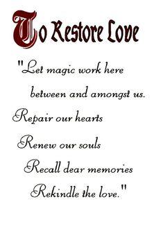 Restoring love and healing hearts