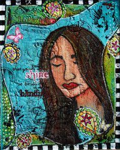 Shine - Mixed Media Canvas