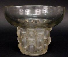 """Rene Lalique Art Deco """"Beautrellis"""" Art Glass Vase"""