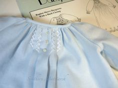 Southern Matriarch: Tiny Gown for a Tiny Boy Doll Clothes Patterns, Clothing Patterns, Kids Clothing, Smocking Patterns, Baby Patterns, Preemie Clothes, Crochet Baby Boots, Angel Gowns, Vintage Baby Clothes