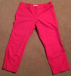 Pink Crop Loft Pants  #LOFT #CaprisCropped