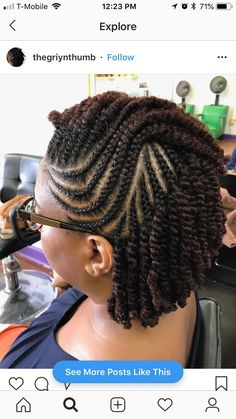 Nice Protective Style Naturalhair Hair Beauty That I Love In - cornrow hairstyles protective styles cornrow hairstyles with beads Protective Hairstyles For Natural Hair, Natural Hair Braids, Braids For Black Hair, Natural Twist Hairstyles, Natural Hair Twist Styles, Short Twists Natural Hair, Natural Hair Tutorials, 4c Natural Hair, Kinky Curly Hair