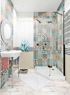 Eclectic Bathroom Ideas: Beautiful Design Inspirations for You Design Wc, Bathroom Design Layout, Best Bathroom Designs, Layout Design, Bathroom Ideas, Bath Design, Design Ideas, Eclectic Bathroom, Bathroom Interior