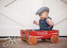 Six-month old sitting baby photography portraits picture ideas boy outdoor fall. Martie Hampton Photography