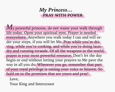 To My Princess... pray with power