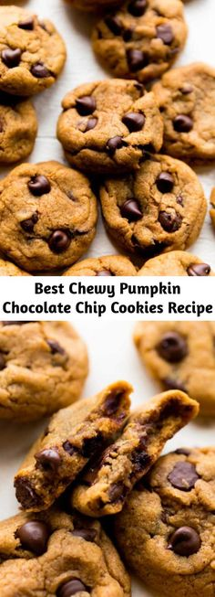 Pumpkin Chocolate Chip Cookies, Brownie Recipes, Cookie Recipes, Dessert Recipes, Melted Butter, Just Desserts, Delicious Desserts, Pumpkin Dishes, Thanksgiving Desserts Easy
