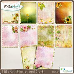 Little Blackbird – Journal Cards Pack :: Gotta Pixel Digital Scrapbook Store by Booland Designs $3.50