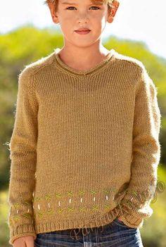 Пуловер с воротником V (д) 28*173 Bergere de France №4231
