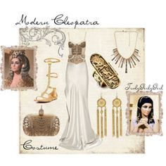 A fashion look from February 2012 featuring Roksanda Ilincic skirts, Alexander McQueen clutches and LowLuv rings. Browse and shop related looks. Cleopatra Dress, Cleopatra Costume, Couple Halloween Costumes For Adults, Mummy Costumes, Teen Costumes, Woman Costumes, Pirate Costumes, Couple Costumes, Group Costumes