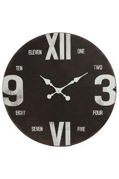 HauteLook | Iron Trade Imports: Black & White Wood Wall Clock