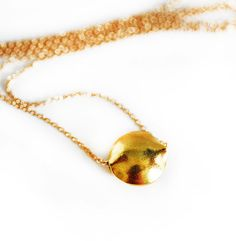 Gold Pebble Necklace by keijewelry on Etsy, $34.00