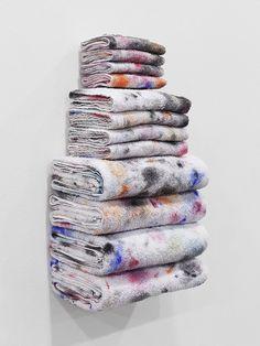 Amanda Ross-Ho, Untitled Textile Arrangement (Towel Rack), 2014