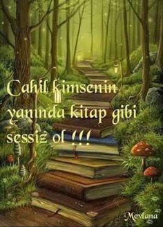 Cahil kimsenin yanında kitap gibi sessiz ol. - Mevlana #sözler #anlamlısözler…