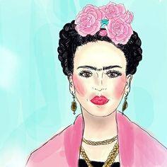 《He pintado poco, sin el menor deseo de gloria ni ambición, con la convicción de ante todo, darme gusto... tratar hasta donde yo pueda de ser siempre yo misma, y el amargo conocimiento de que muchas vidas no serían suficientes para pintar como yo quisiera y todo lo que quisiera》. (Frida Kahlo)  .  .  .  .  .  .  .  .  .  .    #illustration #Frida #fridakahlo #thoughs #sketch #ilustracion #dibujo  #pensamientosdejuevesalamedianoche #drawing #heroes #girlgang #girlpower