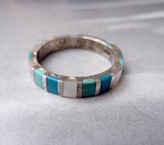 Vintage inlay ring, size 8 (not my size, unfortunately, because I love this ring!)