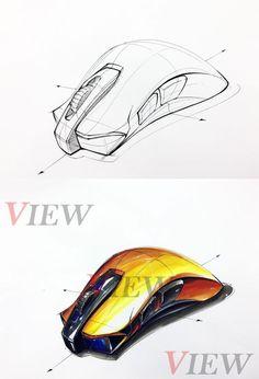 Id Design, Sketch Design, Sketch Inspiration, Design Inspiration, Mouse Sketch, Object Drawing, Industrial Design Sketch, Sketch Markers, Hand Sketch