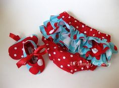 Girls baby shoes mary jane aqua and red ballet by allthingsforbaby on etsy $25.00   These set is just adorable!!