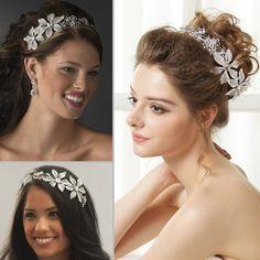 Unique et envoûtant ce bijou de cheveux pour mariée sera un regard enchanteur sur une coiffure mariage classique en chignon, naturelle sur cheveux libres ou d'inspiration vintage