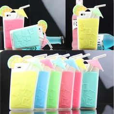 Lemon Drink Cup Silicon Case for iPhone 4/4S/5/5S, also for Galaxy Note 3 - iPhone 5 Cases cover - iPhone Cases