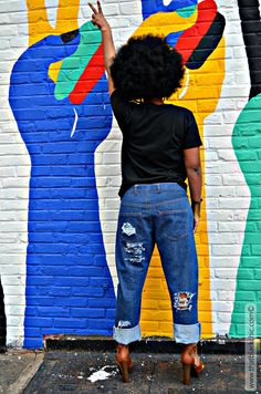That Black Chic: Bob Marley & Morgan Boyfriend Jeans a match made in heaven! [Sew What Series: Morgan Jeans Closet Case Patterns]