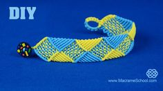 Square & Triangle Bracelet Tutorial | Macrame School