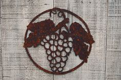 Wine Grapes Wall Hanging Grapevine Bunch of Grapes Wall decor by FoothillMetalArt on Etsy