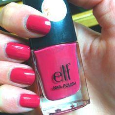 Elf nail polish in fuchsia