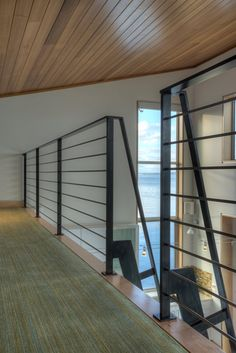 Ships ladder and guardrail  |  Tsunami House  |  Designs Northwest Architects