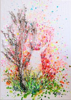 사슴deer아크릴화 Acrylic with bark (size:50×70)Snow in Summer Australia