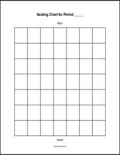 Seating Chart Tables Template, Classroom Layout, Note Taking ...