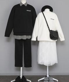 Ulzzang Fashion, Korean Fashion, Fashion Couple, Girl Fashion, Pretty Quinceanera Dresses, Kawaii Dress, Matching Couple Outfits, Asian Street Style, Girl Outfits