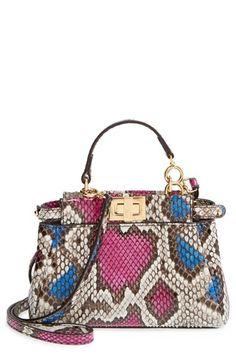 Fendi+'Micro+Peekaboo'+Genuine+Snakeskin+Bag+available+at+#Nordstrom