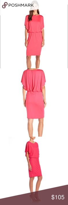 🌷NWT- Trina Turk Dress Gorgeous Trina Turk Dress -Never Worn with tags. Perfect! Rio Ruby color and very flattering fit. Beautiful split sleeves and an elastic waist. This would be a great Dress for a wedding or party. Trina Turk Dresses