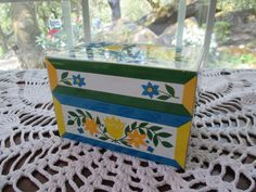 Vintage Metal Recipe Box by aprilleialoha on Etsy, $10.99