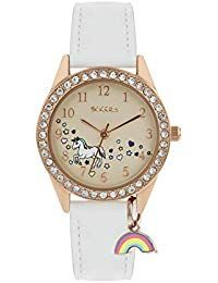 Shop TIKKERS Unicorn Rainbow Charm Watch - ✓ free delivery ✓ free returns on eligible orders. Couleur Or Rose, Girls Maxi Dresses, Cute Stationary, Unicorn Gifts, Bracelet Cuir, 8 Year Olds, Telling Time, Heart Print, Craft Items
