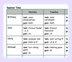 Lesson Planning and Curriculum Maps - The Autism Helper