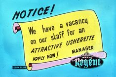 Slide for a job vacancy as an attractive usherette at Hoyts Regent Theatre in Melbourne Advertising, Ads, Melbourne, Theatre, Cinema, How To Apply, Movies, Theatres, Movie Theater