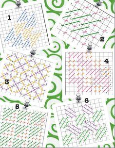 Needlepoint Stitch Sheets