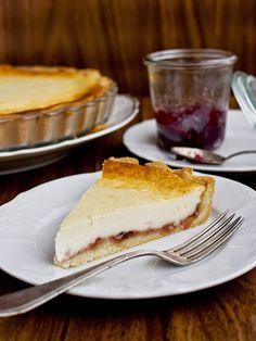 Pradobroty: Lehký tvarohový koláč s marmeládou
