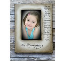 Godparents are very special people placed in your childs life.This frame is a wonderful way to thank them and show them your love.    My