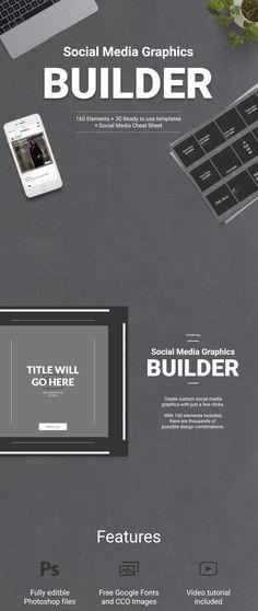 Social Media Graphics Builder on Behance Social Media Cheat Sheet, Social Media Pages, Social Media Template, Social Media Graphics, Twitter Banner, Instagram Banner, Facebook Banner, Linkedin Banner, Youtube Banners